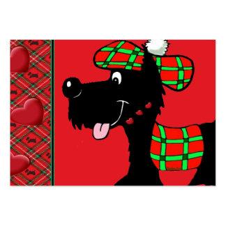 Escocés Terrier en ropa y regalos de la tela escoc Plantillas De Tarjetas De Visita