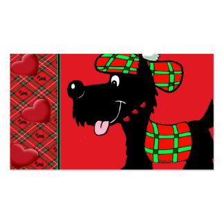 Escocés Terrier en ropa y regalos de la tela escoc Tarjetas De Visita