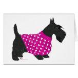 Escocés Terrier en un suéter Tarjeta