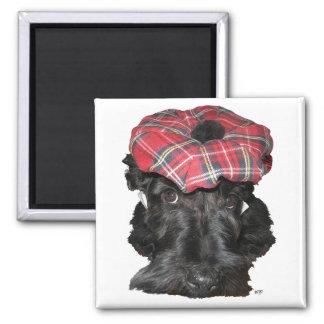 Escocés Terrier en un Tam-o-Shanter Imanes De Nevera