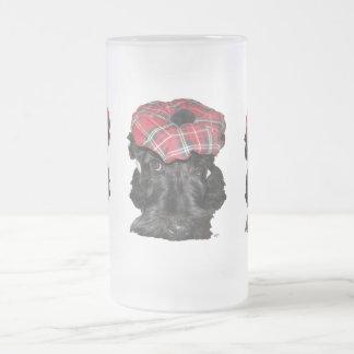 Escocés Terrier en un Tam-o-Shanter Taza De Cristal