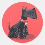 Escocés Terrier Etiqueta Redonda