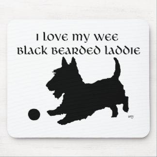 Escocés Terrier - Laddie barbudo negro pequenito Alfombrillas De Ratón