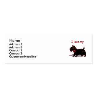 Escocés Terrier Plantillas De Tarjetas De Visita