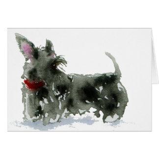 Escocés Terrier Tarjeta De Felicitación