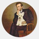Escocés Terrier (W5) - Lincoln Pegatina Redonda