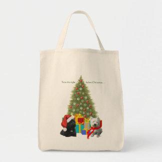 Escocés y árbol de navidad de Westie Bolsa