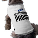 Escocés y orgulloso playera sin mangas para perro