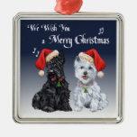 Escocés y ornamento de Westie Ornamento Para Arbol De Navidad