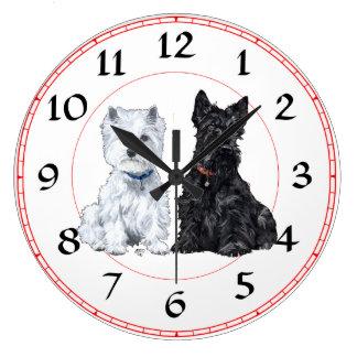 Escocés y reloj de Westie