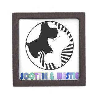 Escocés y Westie Caja De Joyas De Calidad