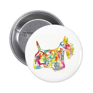 Escoceses de Brushfolks en un botón de Scotty Pin