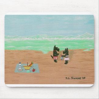 Escoceses de la playa tapetes de ratón