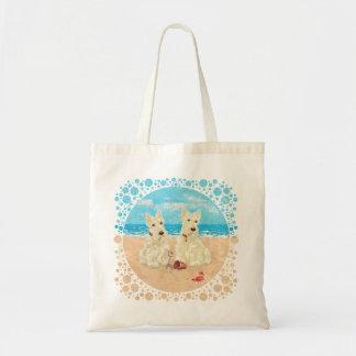 Escoceses de trigo en la playa bolsa