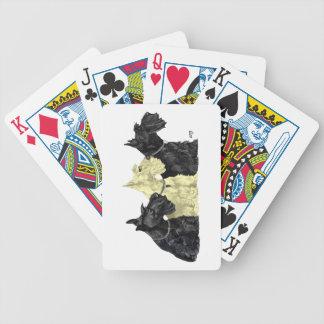 Escoceses negros y de trigo barajas de cartas