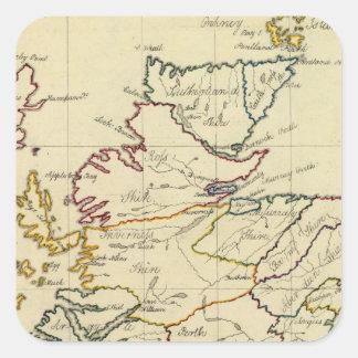 Escocia 11 pegatinas cuadradases