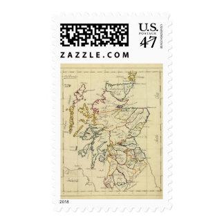Escocia 11 timbres postales