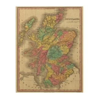 Escocia 18 impresión en madera