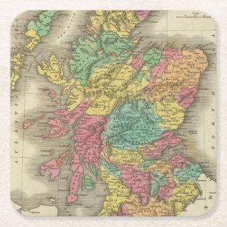 Escocia 18 posavasos personalizable cuadrado