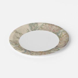 Escocia 3 plato de papel de 7 pulgadas