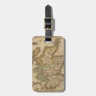 Escocia 4 etiqueta de maleta