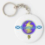 Escocia azul llaveros