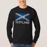 Escocia + Bandera del escocés del Grunge Remera