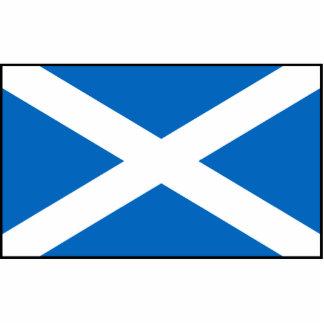 Escocia - bandera escocesa fotoescultura vertical