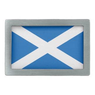 Escocia - bandera escocesa hebillas de cinturón rectangulares