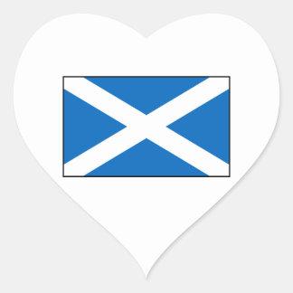 Escocia - bandera escocesa pegatina en forma de corazón