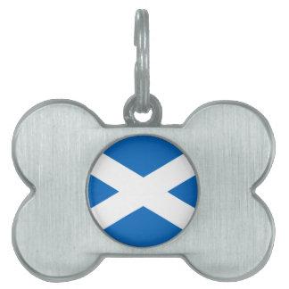 Escocia - bandera escocesa placas de nombre de mascota
