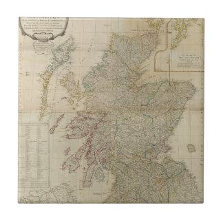 Escocia compuesta 2 azulejo cuadrado pequeño