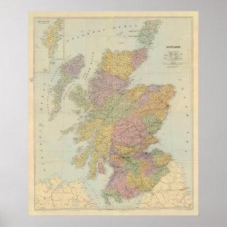 Escocia compuesta póster