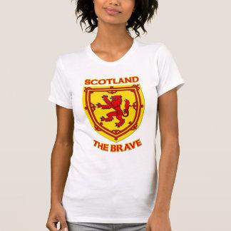 Escocia el valiente y el escudo de armas camiseta