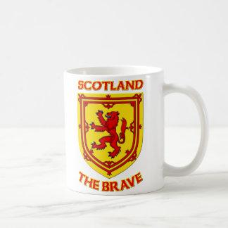 Escocia el valiente y el escudo de armas tazas de café