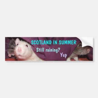 Escocia en pegatina para el parachoques del verano pegatina para auto