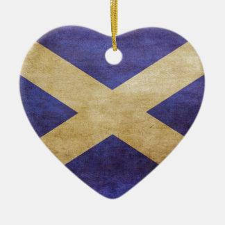 Escocia, Escocia, Escocia Adorno Navideño De Cerámica En Forma De Corazón