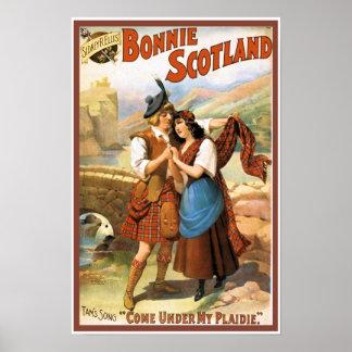Escocia hermosa póster