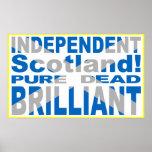 Escocia independiente pura, muerto, brillante impresiones