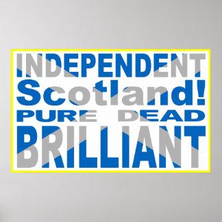 Escocia independiente pura, muerto, brillante póster