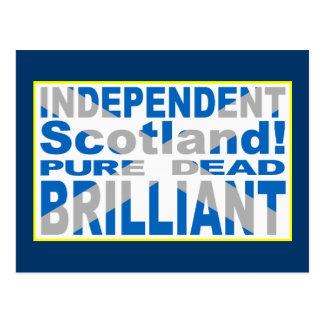 Escocia independiente pura, muerto, brillante tarjetas postales