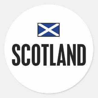 Escocia intrépida pegatina redonda