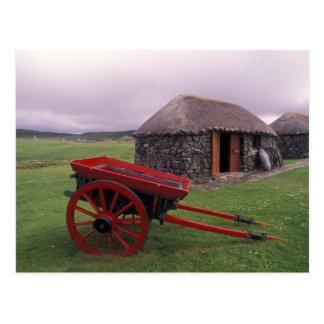 Escocia, isla de Skye, Kilmuir. Paisaje rural Tarjetas Postales