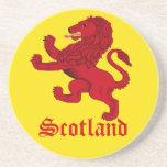Escocia, león desenfrenado posavasos para bebidas