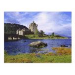Escocia, montaña, Wester Ross, Eilean Donan 2 Tarjeta Postal