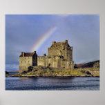 Escocia, montaña, Wester Ross, Eilean Donan Posters