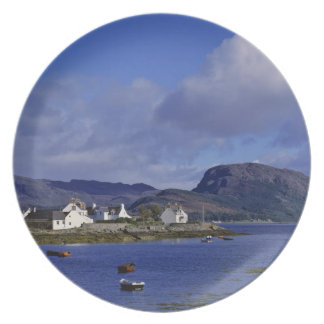 Escocia, montaña, Wester Ross, Plockton. Plato De Comida