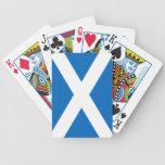 Escocia/naipes escoceses de la bicicleta de la ban barajas de cartas