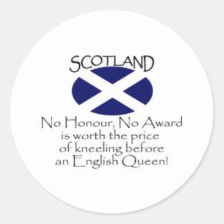 Escocia Etiqueta Redonda