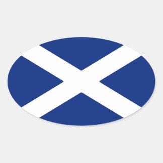 Escocia Pegatina Ovalada